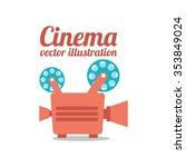 cinema film design  vector... | Shutterstock .eps vector #353849024
