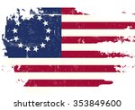 a flag of old union with a... | Shutterstock .eps vector #353849600