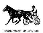 harness racing illustration  ...   Shutterstock .eps vector #353849738