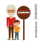 happy family design  vector...   Shutterstock .eps vector #353853050