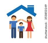 happy family design  vector...   Shutterstock .eps vector #353853149