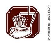 fast food design  vector... | Shutterstock .eps vector #353855144