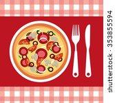 delicious pizza design  vector... | Shutterstock .eps vector #353855594