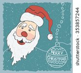 cute vector santa claus with ... | Shutterstock .eps vector #353857244