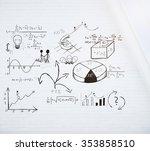 business scheme on white brick... | Shutterstock . vector #353858510