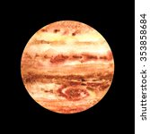 watercolor planet jupiter | Shutterstock . vector #353858684