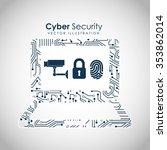 cyber security design  vector... | Shutterstock .eps vector #353862014