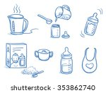 set of different icons or steps ... | Shutterstock .eps vector #353862740
