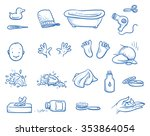 set of baby care icons  with... | Shutterstock .eps vector #353864054