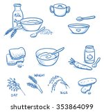 set of different icons for... | Shutterstock .eps vector #353864099