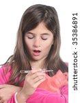 little girl have a flu  ... | Shutterstock . vector #35386891