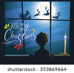 merry christmas and happy new... | Shutterstock .eps vector #353869664