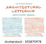 hand made font 'architectural... | Shutterstock .eps vector #353870978