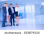 smiling successful business... | Shutterstock . vector #353879210