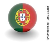 3d ball with flag of portugal.... | Shutterstock . vector #35388385
