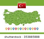 turkey map | Shutterstock .eps vector #353885888