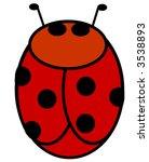 simple illustration of a ladybug   Shutterstock . vector #3538893