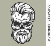 charismatic skull hipster.   Shutterstock .eps vector #353893970