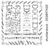 doodles border and doodles... | Shutterstock .eps vector #353897420