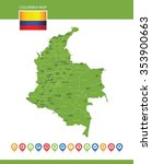 columbia map | Shutterstock .eps vector #353900663