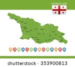 georgia map | Shutterstock .eps vector #353900813