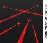 abstract red laser beams.... | Shutterstock .eps vector #353904473