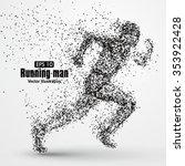 running man  particle divergent ...   Shutterstock .eps vector #353922428