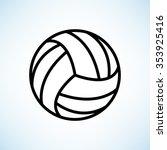 volleyball ball    black vector ... | Shutterstock .eps vector #353925416