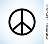 peace sign    black vector icon | Shutterstock .eps vector #353926070