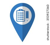notepad   vector icon  blue map ... | Shutterstock .eps vector #353927360