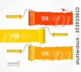 roller header number banners... | Shutterstock . vector #353933810