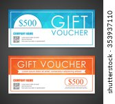 voucher  gift certificate ... | Shutterstock .eps vector #353937110