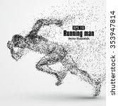 running man  particle divergent ... | Shutterstock .eps vector #353947814