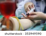 syringe method blood collection ... | Shutterstock . vector #353949590