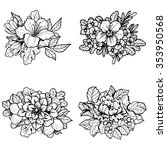 flower set | Shutterstock . vector #353950568