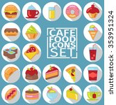appetizing colorful icons with... | Shutterstock .eps vector #353951324