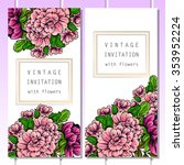 romantic invitation. wedding ... | Shutterstock . vector #353952224