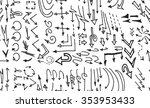 hand drawn doodle seamless... | Shutterstock .eps vector #353953433