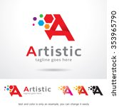 artistic letter a logo template ...