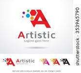 artistic letter a logo template ... | Shutterstock .eps vector #353965790