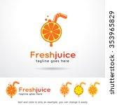 fresh juice logo template... | Shutterstock .eps vector #353965829