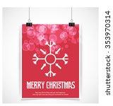 vector snowflake flat icon card.... | Shutterstock .eps vector #353970314