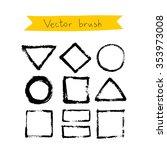 black vector brush on a white... | Shutterstock .eps vector #353973008