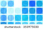 abstract background. blue mosaic | Shutterstock . vector #353975030