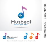 music beat logo template design ... | Shutterstock .eps vector #353978420