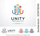 unity logo template design... | Shutterstock .eps vector #353978540