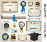 elegant graduation and... | Shutterstock .eps vector #353982638