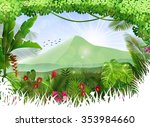 tropical background beautiful | Shutterstock . vector #353984660