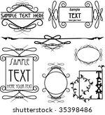 victorian frames | Shutterstock .eps vector #35398486