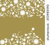 sunflower flower seamless... | Shutterstock .eps vector #353985590